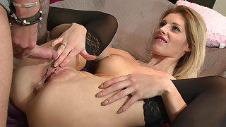 Sensual coitus with his stepsister