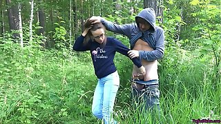 Explicit Sucking Dick and Fucking in the Wood - Public Sex