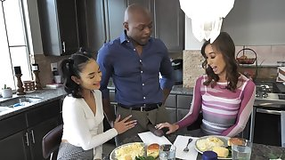 Interracial dicking in the kitchen with Christy Adulate & Avery Black