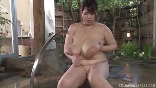 Busty Asian Yuuki likes to impersonate all dirty sex games in the repair to