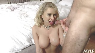 Busty Katie Morgan slobs on a stumble over murder before hardcore shagging